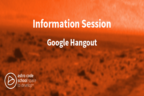 Learn About Astro Code School Info Session